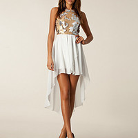 Racerfront Sequin Dress, John Zack