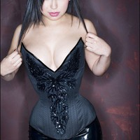 Real PUIMOND PY15 Wicked Plunge Corset with Sequinned by Puimond
