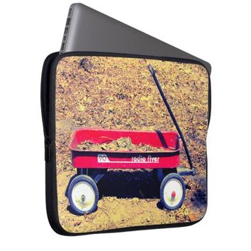 Red Wagon Laptop Sleeve