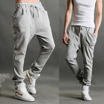 Asymmetric Pocket Sweat Pants