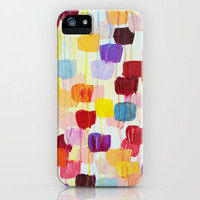 DOTTY - Stunning Bright Bold Rainbow Colorful Square Polka Dots Lovely Original Abstract Painting iPhone Case by EbiEmporium | Society6