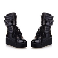 163NBM  Free shipping New Arrivals! Fashion Shoes Women's boots  High Boots Thick bottom Boots Snow boots.Warm winter.-in Boots from Shoes on Aliexpress.com