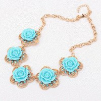 Lady Flower Vintage Statement Necklace  | LilyFair Jewelry
