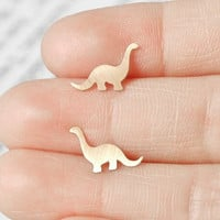 Brontosaurus Earings In 9ct Yellow .. on Luulla