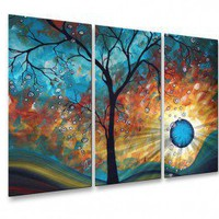 All My Walls Aqua Burn Metal Wall Hanging - MAD00111 - All Wall Art - Wall Art & Coverings - Decor