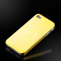 "Amazon.com: Liquid Gold ""Reflections"" Metallic finish case cover for Apple iPhone 4: Cell Phones & Accessories"