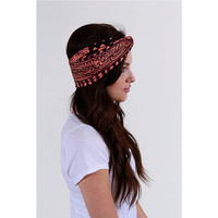Tribal Turban Headband Southwestern coral womens fall fashion