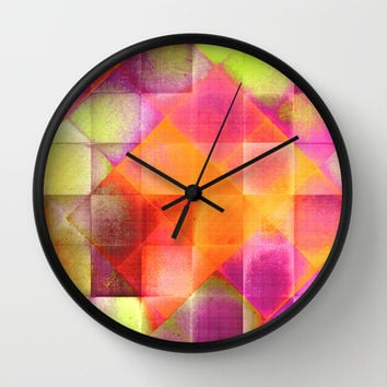 CHECKED DESIGN II-v8a Wall Clock by Pia Schneider [atelier COLOUR-VISION]