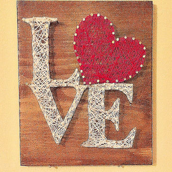 Valentines Day Love Sign String Art