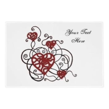 Loopy Love Heart Trellis Laminated Placemat