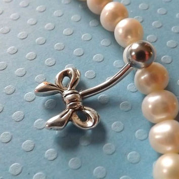 Bow Belly Ring Cute Fits in Navel Body Jewelry Navel Piercing
