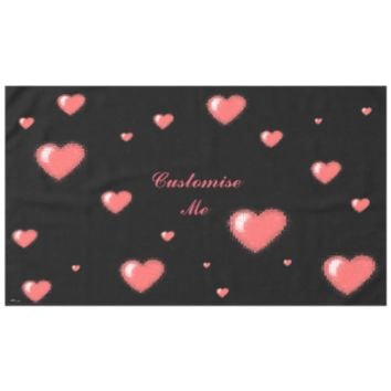 Tiled Mosaic Heart (Pink) Tablecloth