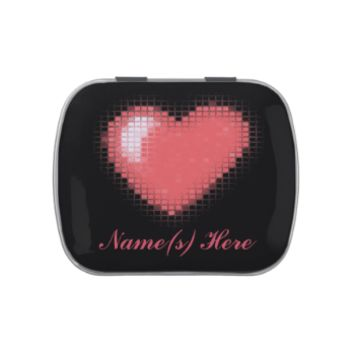 Tiled Mosaic Heart (Pink) Jelly Belly Candy Tins