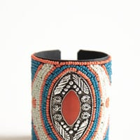 Capital Estate Beaded Cuff - $24.00: ThreadSence, Women's Indie & Bohemian Clothing, Dresses, & Accessories