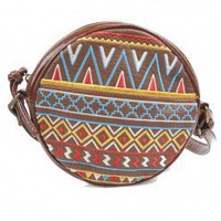Circle Tribal Bag - Brown
