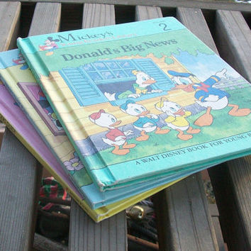 Vintage Mickey's Young Readers Library Set of 3 1990