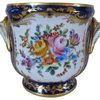 French Antique Artist Signed Planter