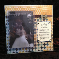 Dad/Daughter Wedding Frame - 8x8 Base with 4x6 Vertical Photo - Wall or Tabletop Decor - READY TO SHIP