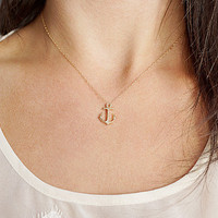 Little Anchor Necklace - 14K Gold Filled Chain