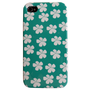 White Flowers iPhone 4 and 4s Plastic iPhone Case - Cover - iPhone Accessory - custom iphone case
