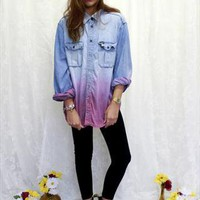 Wrangler dip dye denim shirt dress from Liar