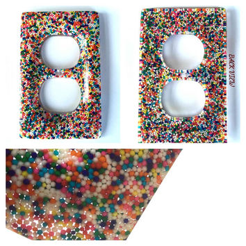 Candy Sprinkle Wall Double Outlet Cover / Plate