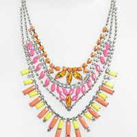 BP. Neon Rhinestone Statement Necklace | Nordstrom