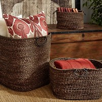 DARK TWIST AND KNOT BASKETS