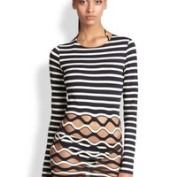 enabled: truelabel: Jean Paul Gaultier-Dotted Tulle Tunic