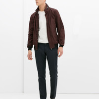 Jacket with contrast collar and cuffs