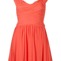 Coral Sleeveless Ruched Dress - Dresses - Clothing - Topshop USA