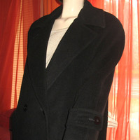 Amaizing Vintage REGENCY Pure Camel Hair  My Boyfriend's Coat Very Long Black Lined Size 2 Made in USA