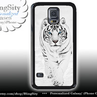 White Tiger S5 Case Tiger In Snow Photo Galaxy S4 Case S3 Cover Note 2 3 4 Shell Cover Photo