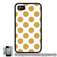 Polka Dot iPhone 5C Case 6 Plus 4 5 Case Gold Tan Polka Dot Ipod 4 5 Touch Cover Back Galaxy S4 S5 Note 3 4