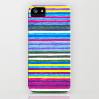 iPhone 5 Case - Yellow Stripes Graph Drawing - hipster iPhone 5 case, iphone 5 case, original iPhone case