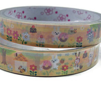 Japanese Washi Tape 15m Self Adhesive Little Red Riding hood and pals