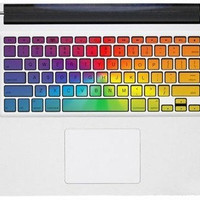 colorful keyboard Decal -- Apple Mac Keyboard Decal Mac vinyl Sticker Macbook Keyboard Decal Macbook Keyboard Stickers Keyboard Skin Cover