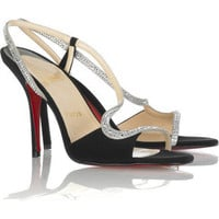 Christian Louboutin Alta perla strass 100 sandals - &amp;#36;220.00