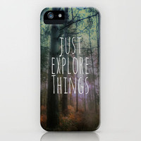 Just Explore Things iPhone Case by Ally Coxon | Society6