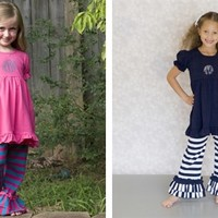 Monogrammed Ruffle Outfits - 3 Styles!