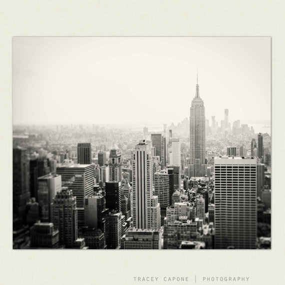 New york city print skyline decor from traceycapone on etsy for New york city decor
