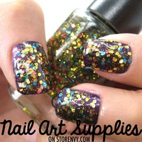 Party in a Bottle - Festive Multi Colored Glitter Nail Polish - 9.8ml from nailartsupplies