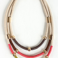 Wrapped Cord Tribal Necklace