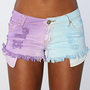 The Tie Dye Back Stud Short in Purple and Blue