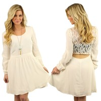 Miss Chic Dress in Ivory