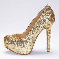 Sequin Supermodel Pump