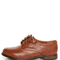 Dollhouse Trickster Chestnut Brogue Lace-Up Oxfords - $36.00