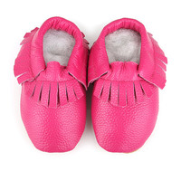 C'est Le Pied Hot Pink Fringe Leather Booties | zulily