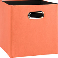 Rugby Orange Solid Square Storage Bin
