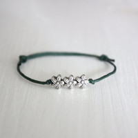 Tiny Flowers Wish Bracelet - Tibetan Silver